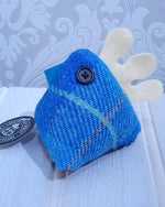 Load image into Gallery viewer, Harris Tweed Decorative Mini Chicken Handmade by Caroline Wolfe Murray