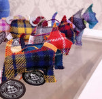Load image into Gallery viewer, Harris Tweed Scottie Dog Decoration, Handmade in Scotland by Caroline Wolfe Murray