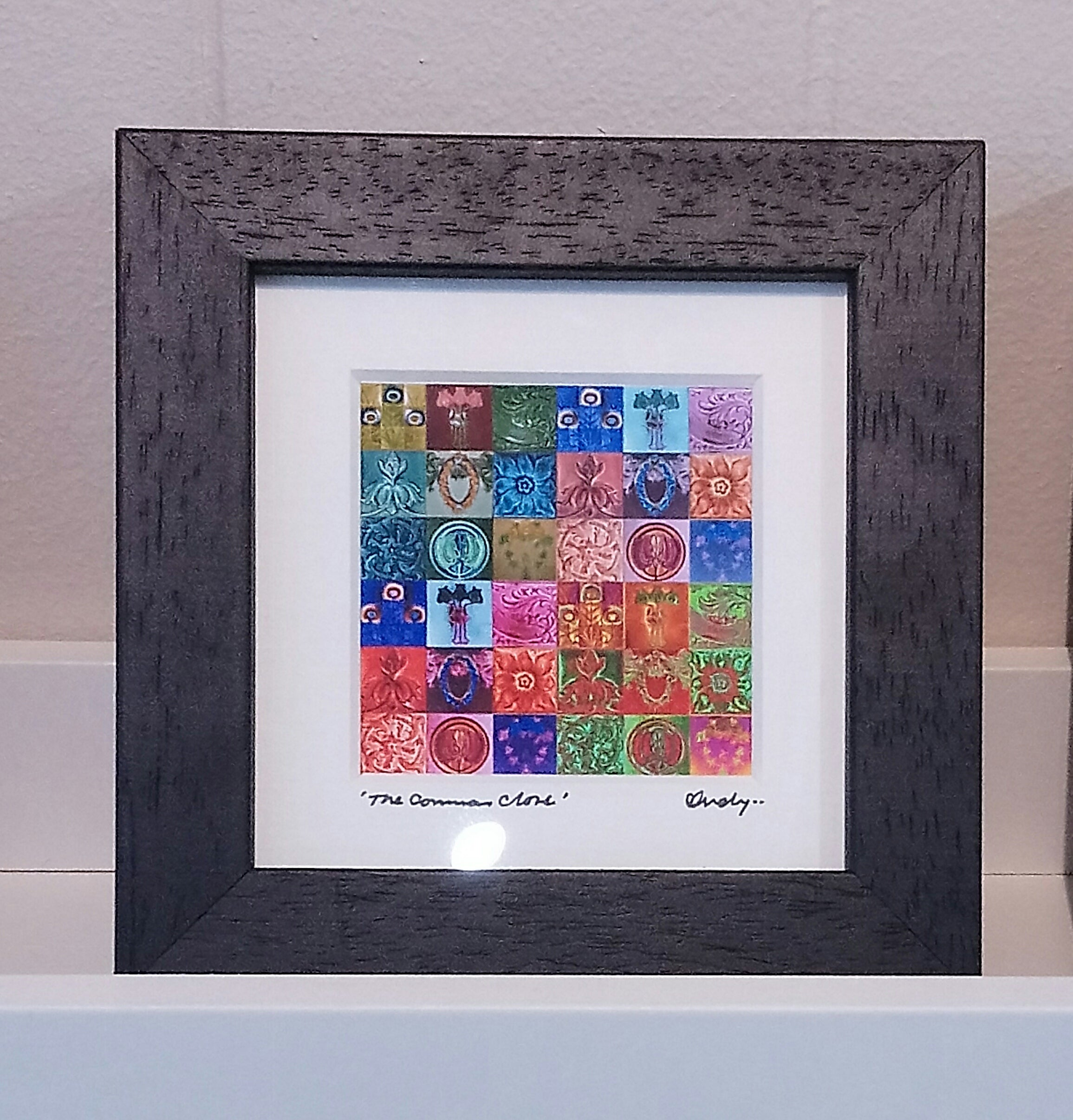 Mini SQ Framed Print By Glasgow Artist Andy Hurst