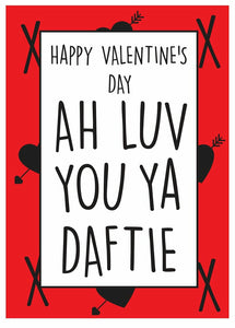 Scottish Valentine's Day card