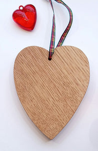 Hanging Wooden Heart Made in Scotland by Rezawood