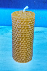 Traditional Church Beeswax Candle Made in Scotland by Beesy`s Beeswax Candles