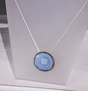 Circle Ceramic Pendant on St Silver Chain - Margaret MacDonald