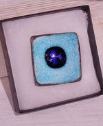 Load image into Gallery viewer, Large Glazed SQ Ceramic Brooch Handmade by Margaret MacDonald