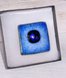 Large Glazed SQ Ceramic Brooch Handmade by Margaret MacDonald