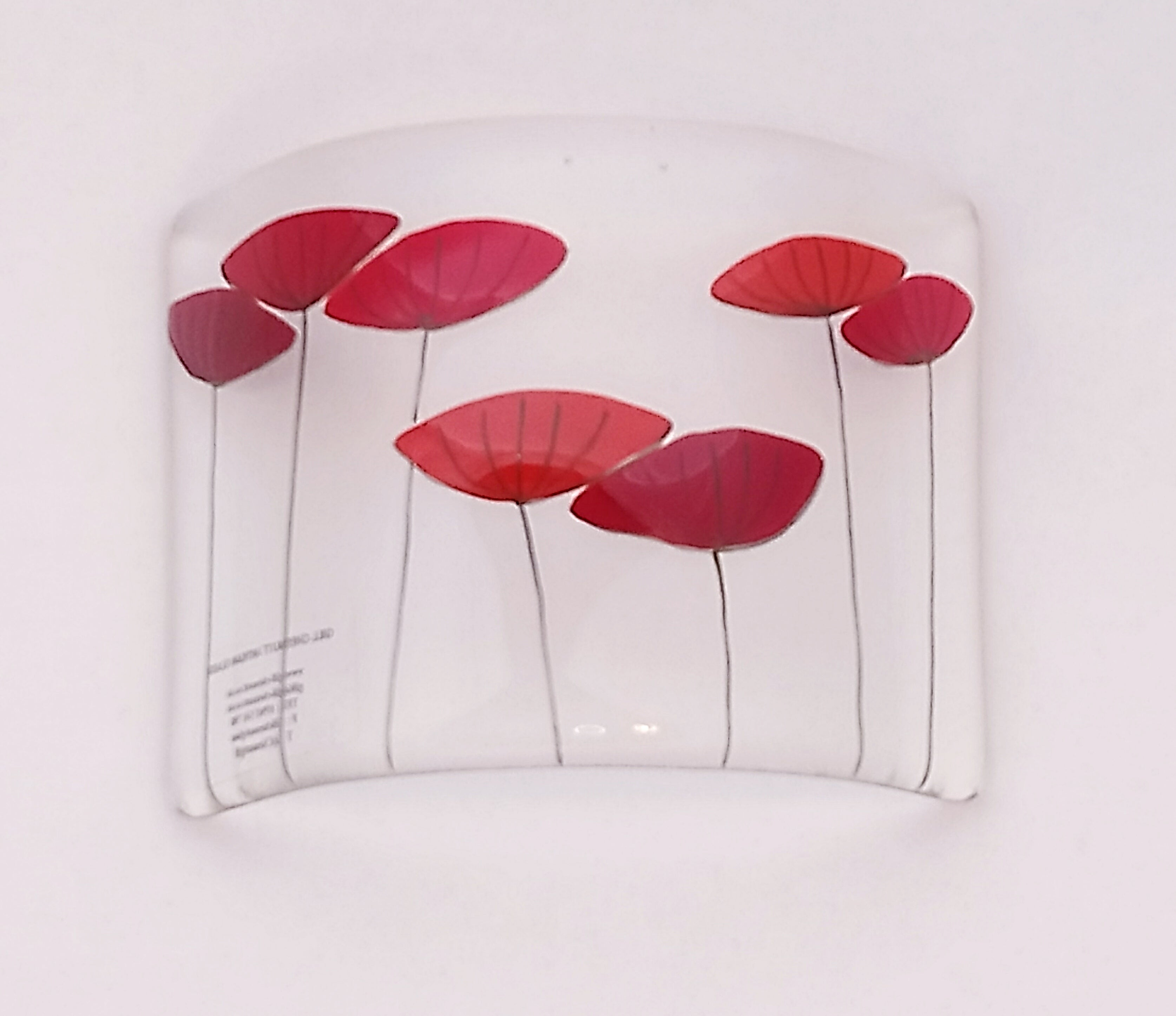 Poppy Seedhead Glass Candle Curve