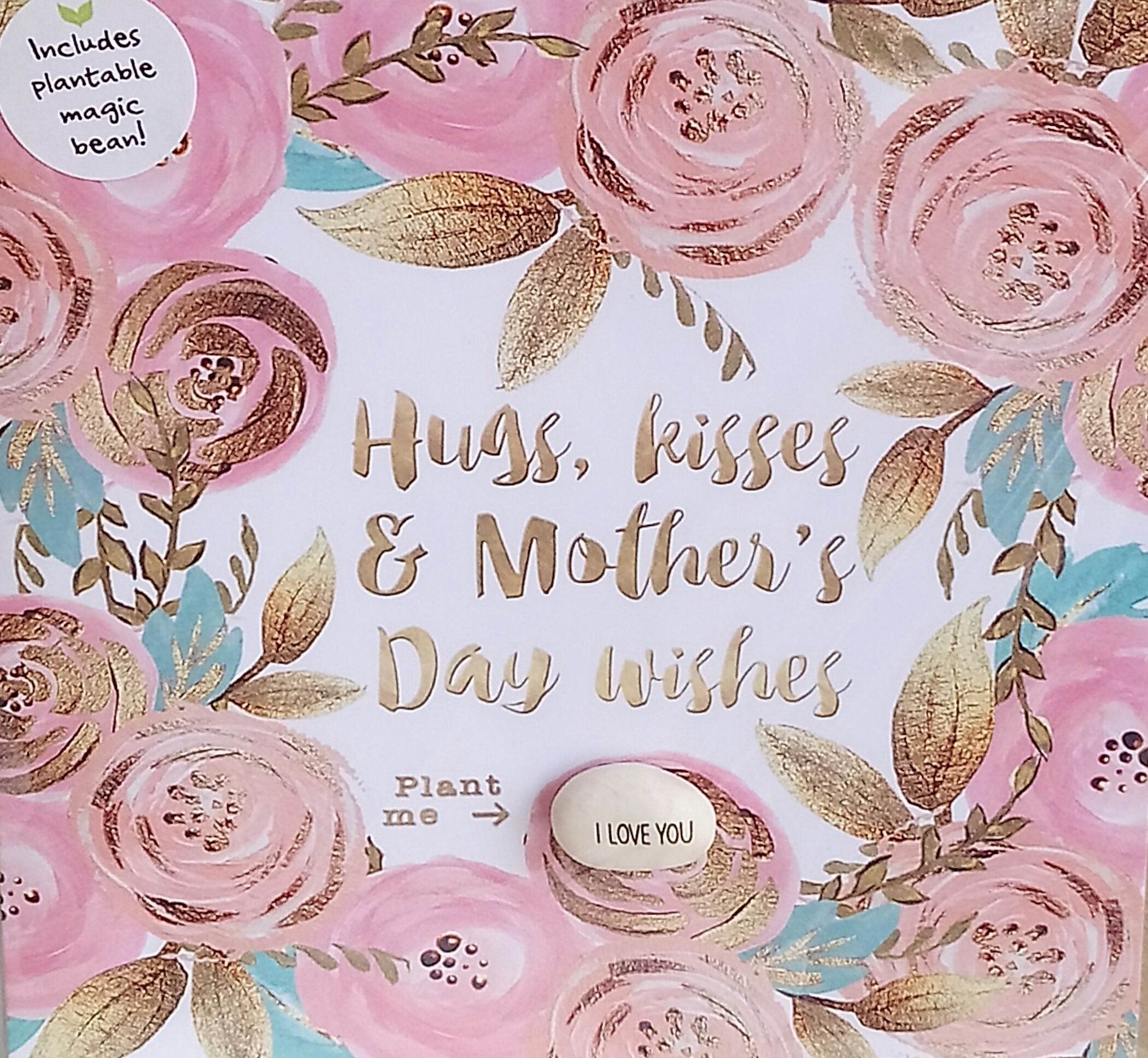 'Hugs & Kisses & Mother's Day Wishes' Magic Bean Card by Lucy & Lolly