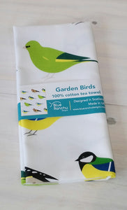 Garden Birds Tea Towel by Blue Ranchu Designs