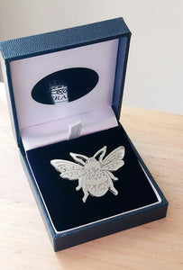 Small Bee Brooch Made in Scotland by Pewtermill