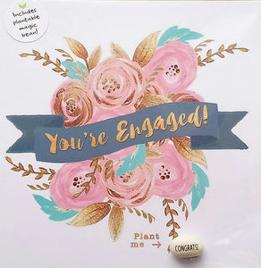 Magic Bean Floral Engagement Card by Lucy & Lolly