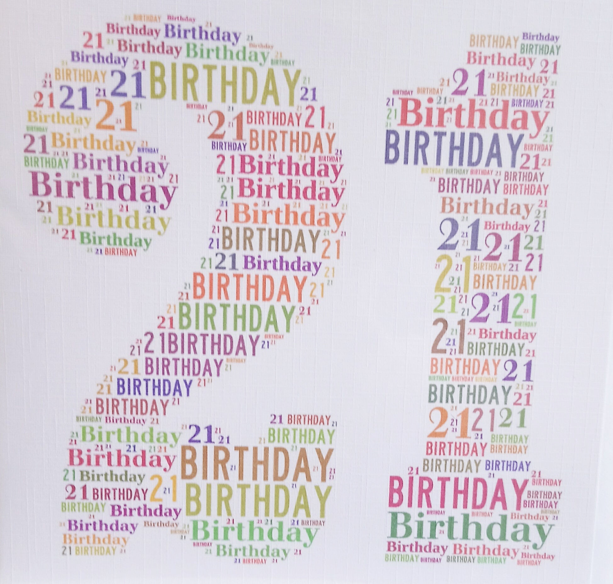 WordArt SQ Age Cards