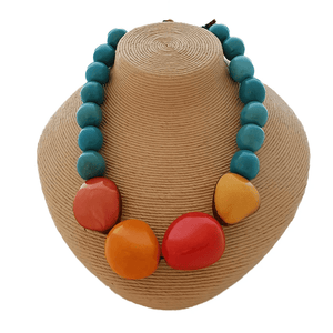 'Katia' Tagua Nut Necklace made by Pretty Pink Eco Jewellery