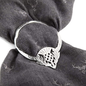 Thistle Scarf Ring Made in Scotland by Pewtermill