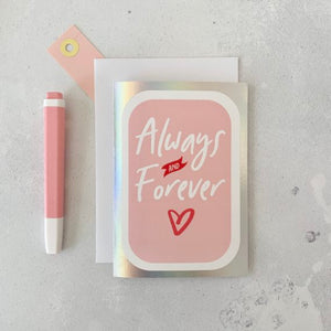 Romantic Always Sparkle - Made You Smile Card