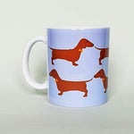 Load image into Gallery viewer, Red Dachshund Earthenware Mug by Blue Ranchu Designs