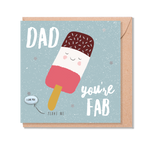 Load image into Gallery viewer, 'Dad You're Fab' Magic Bean Card by Lucy & Lolly