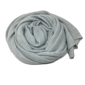 Samantha Holmes Frosted Alpaca Travel Shawl & Pillow