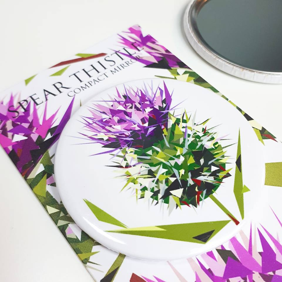 Compact Mirror Illustrated by Jennifer Louise Design