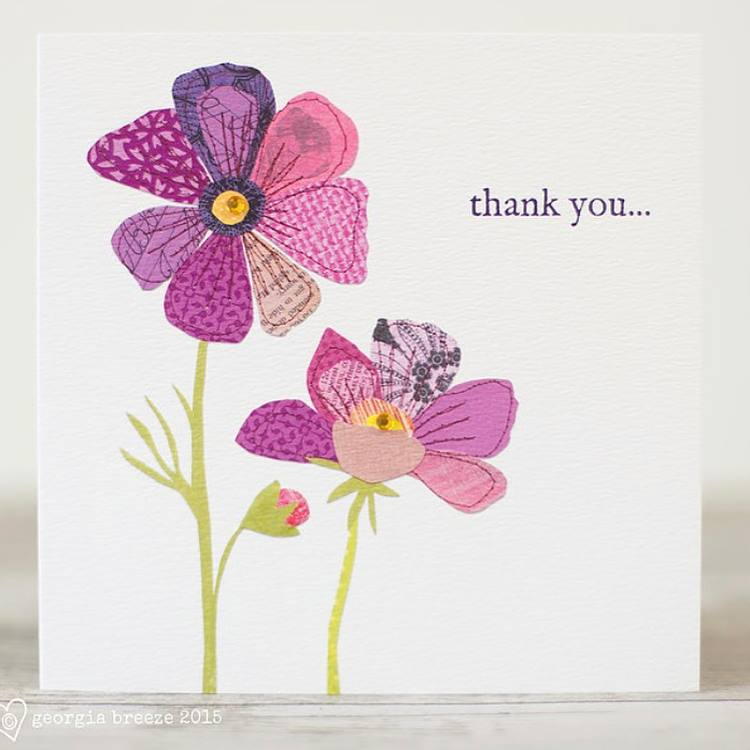 Thank You Card by Georgia Breeze