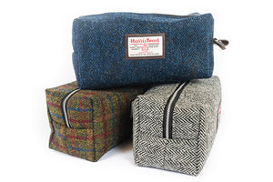 Mens Tweed Washbag - Made in Scotland by Clare O`Neil Textiles