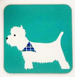 West Highland Terrier (Westie) Coaster by Blue Ranchu Designs