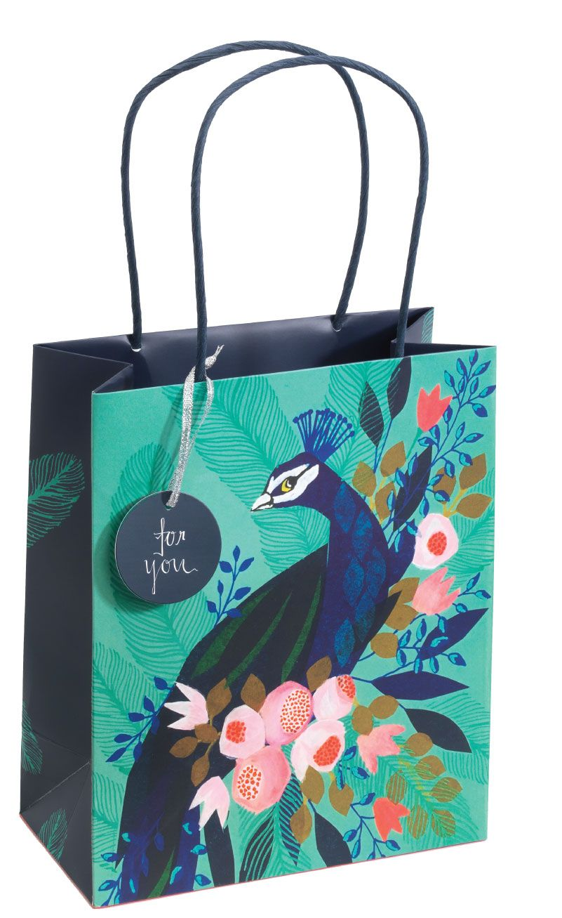 Peacock Medium Gift Bag