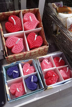 Load image into Gallery viewer, Wee Heart Candles Gift Box Made in Scotland by Beesy`s Beeswax Candles