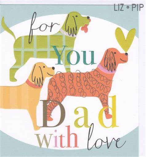 Dad with Love SQ Card by Liz and Pip