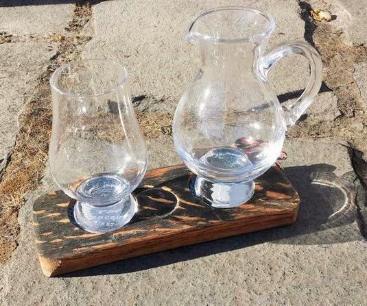 1 Glass 1 Jug Tasting Tray Made by Rezawood Designs