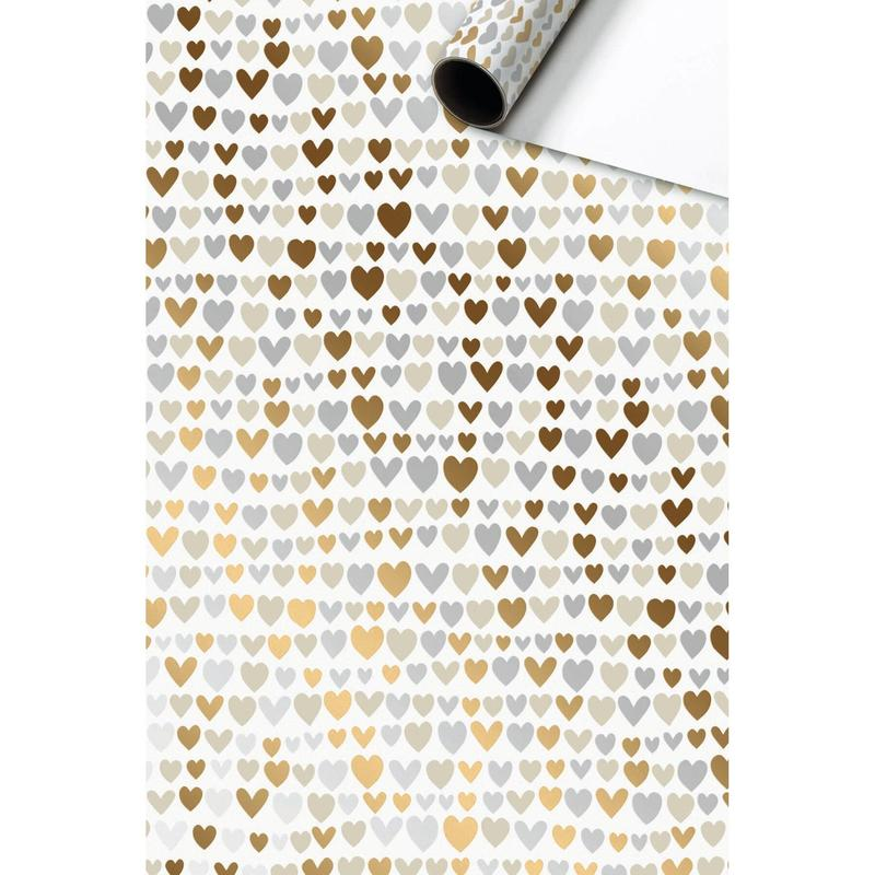 Nicoletto (Hearts) Roll of Gift Wrap 1.5M