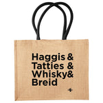 Load image into Gallery viewer, Extra Large Tote Shopper  - Haggis Whisky Tatties Breid