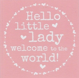 Baby Girl Paper Smiles Card by Always Sparkle
