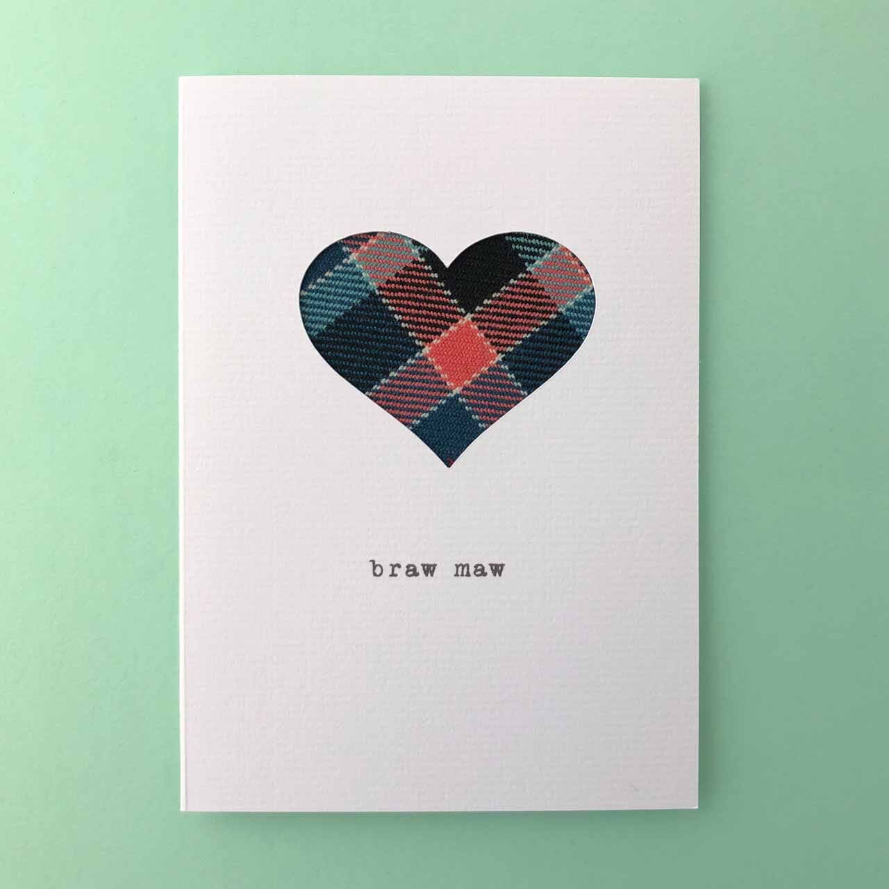 Mother's Day Handmade Scottish Cards Made in Scotland by Hiya Pal