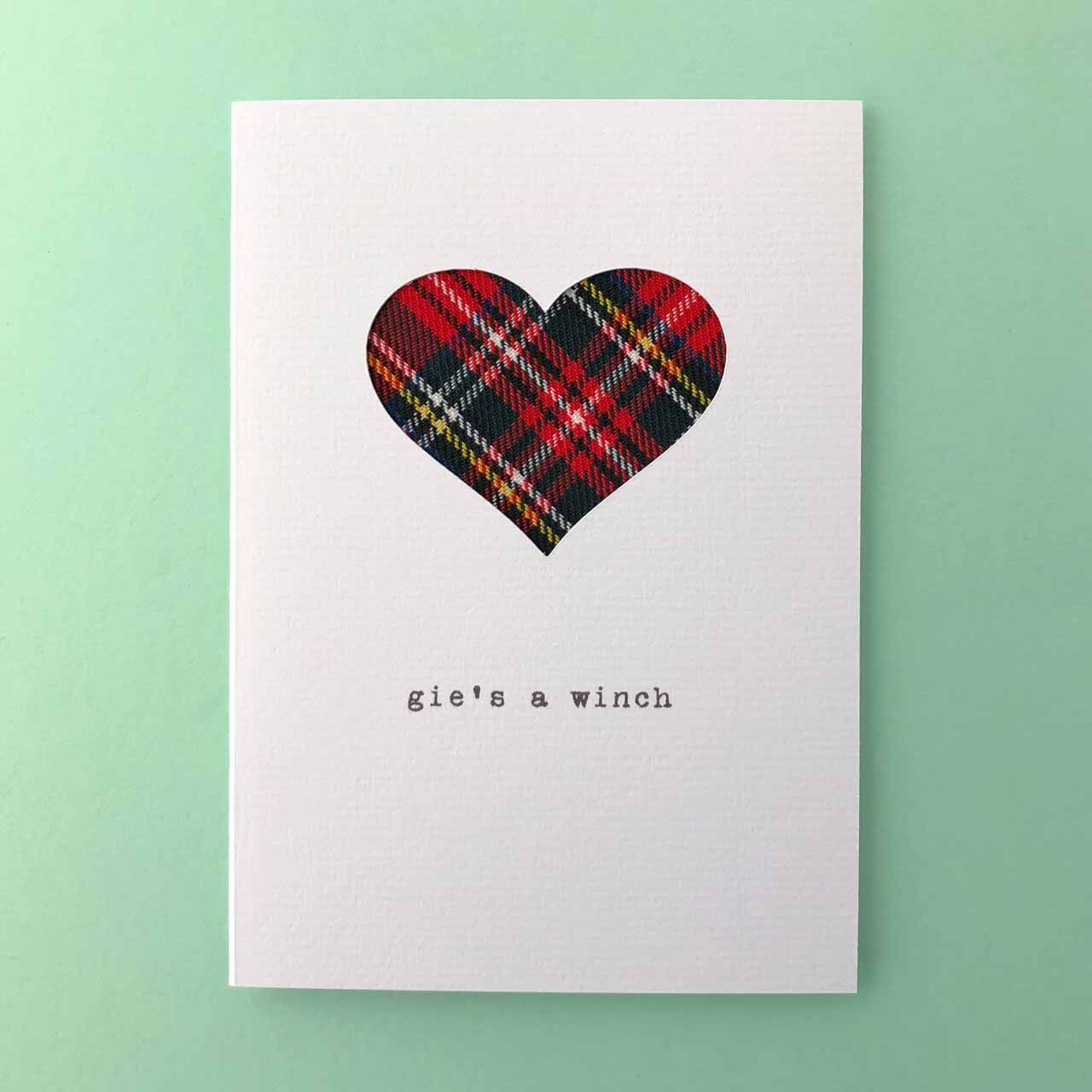 Romantic Handmade Scottish Cards Made in Scotland by Hiya Pal