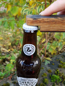 Beer Bottle Opener made from Upcycled Whisky Barrels