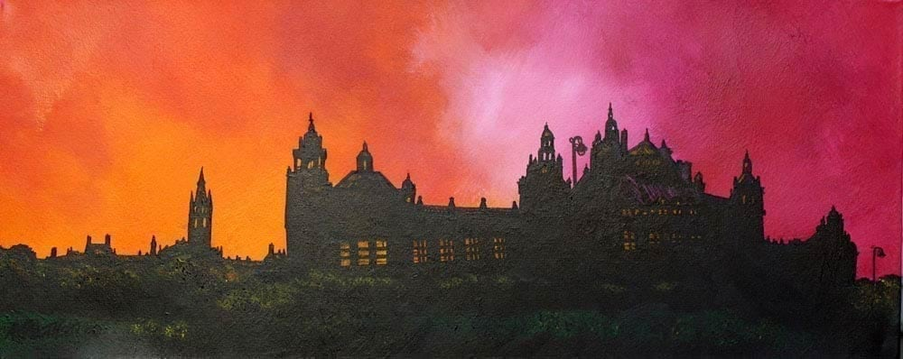Glasgow Small Framed Prints by Artist Andy Peutherer