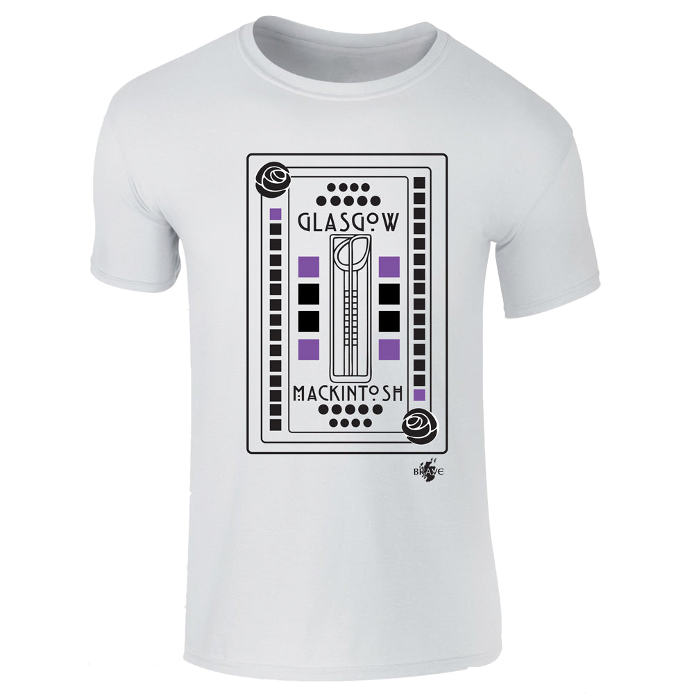 Mackintosh Glasgow - White T-Shirt  - Brave Scottish Gifts