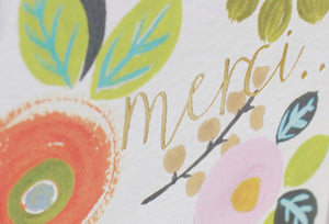 'Merci' Card by Liz & Pip