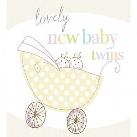 New Baby Twins Card by Liz and Pip