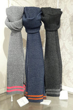 Load image into Gallery viewer, Alpaca Preppy Scarf by Scottish Knitwear Designer Samantha Holmes
