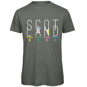 Scotland in Colour T-Shirt by Brave Scottish Gifts