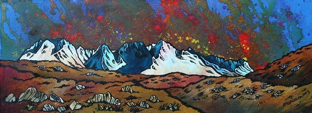 Cuillin Skye Small Mounted Prints by Andy Peutherer