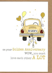 Anniversary Dandelion Rectangle Card