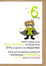 Load image into Gallery viewer, Kids Birthday Dandelion Age 1-10yrs Cards