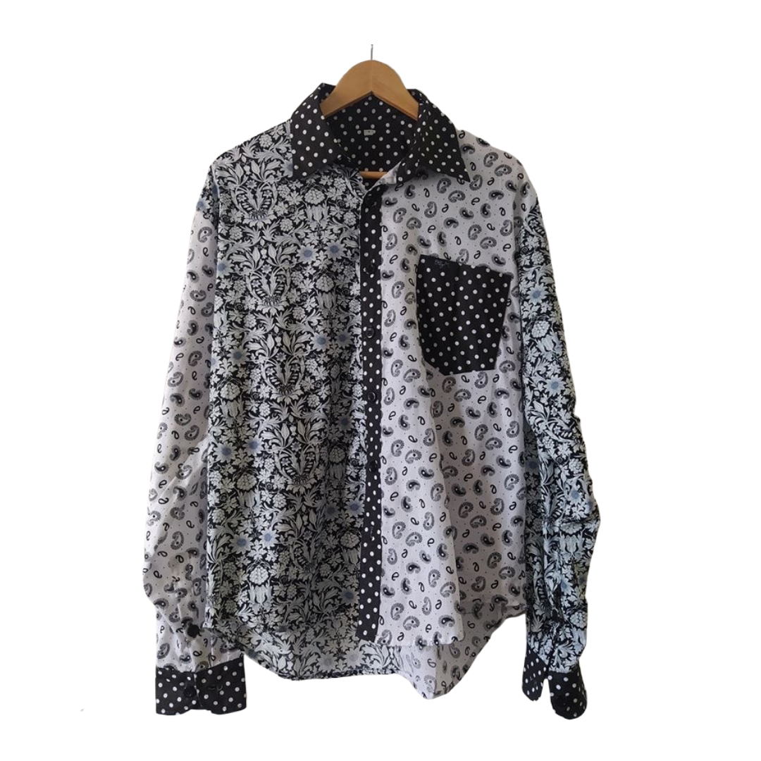 Black & White Long Sleeve Shirt