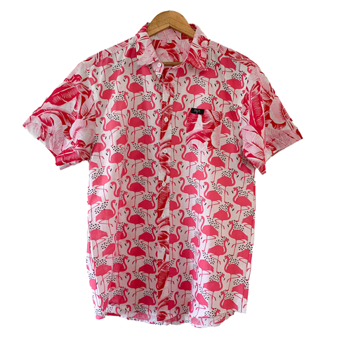 Pink Flamingo Short Sleeve Shirt