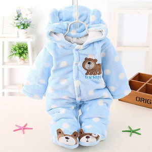 Autumn Winter Baby Girl Rompers Baby Clothing Warm Cartoon Velvet Infant Newborn Overalls Jumpsuits - Buy Babby