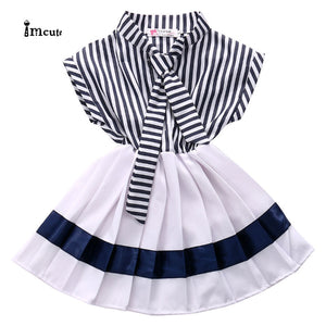 2019 New Hot Sale Latest Summer Fashion Cute Toddler Kids Girls Striped Casual Swing Dress Sundress Clothes 2-7T - Buy Babby