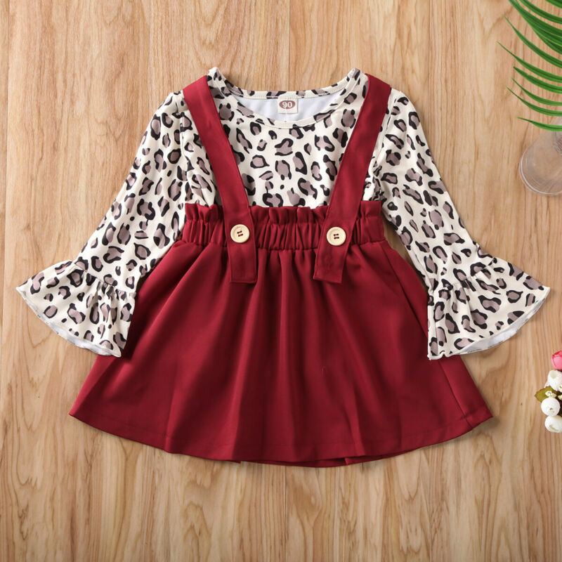 2020 New 2PCS Newborn Baby Girls Long Sleeve Baby Clothes T-shirt Tops Overalls Skirts Outfit Autumn 1-5T - Buy Babby