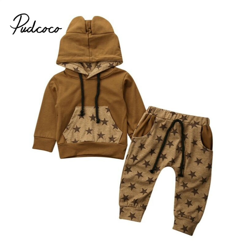 2020 Spring Baby Casual Tracksuit Children Boy Girl Pullover Hooded Sweatshirts Pants Kids Leisure Sport Suit Infant Clothing - Buy Babby